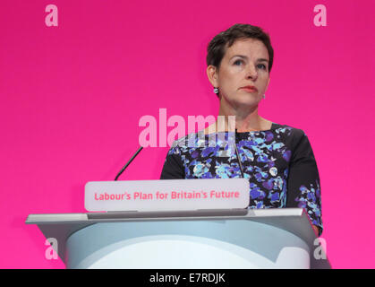 MARY CREAGH MP SHADOW SECRETARY OF STATE FOR 23 September 2014 MANCHESTER CENTRAL MANCHESTER ENGLAND - Stock Photo