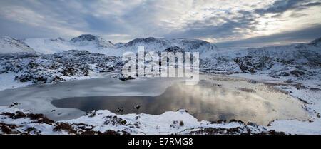 Great Gable from Innominate Tarn, Haystacks, Lake District, Cumbria, UK - Stock Photo