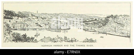 US-CT(1891) p131 NORWICH HARBOUR AND THE THAMES RIVER - Stock Photo