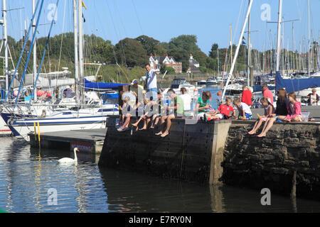 Lymington Harbour in  Hampshire - Stock Photo