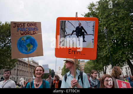 International People's Climate March ahead of UN Climate summit asks for action on climate change London 2014 - Stock Photo