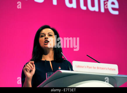 Manchester, UK. 23rd Sep, 2014. Caroline Flint Shadow Secretary for Energy and Climate Change speaking at the Labour - Stock Photo