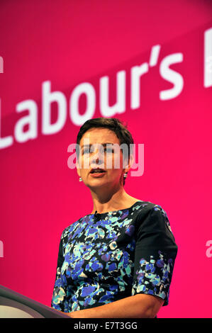Manchester, UK. 23rd Sep, 2014. Mary Creagh Shadow secretary of state for Transport speaking at the Labour Party - Stock Photo