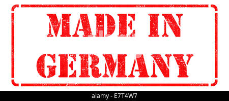 Made in Germany on Red Stamp. - Stock Photo