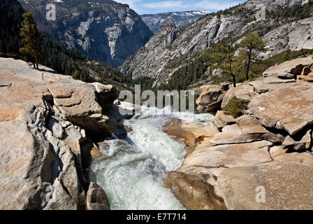 CA02305-00...CALIFORNIA - The Merced River at the top of Nevada Fall in Yosemite National Park. - Stock Photo