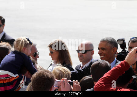 New York, New York, USA. 23rd Sep, 2014. United States President Barack Obama and his wife First Lady Michelle Obama - Stock Photo