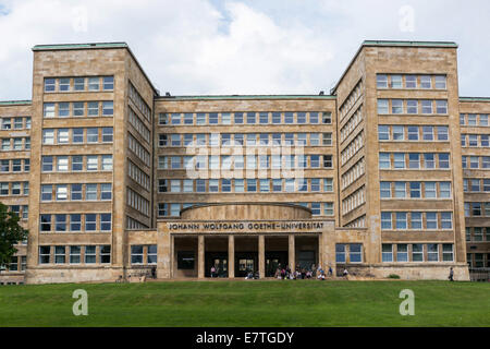 Germany: Front of the IG Farben Building (Goethe University), Frankfurt. Photo from 20. September 2014. - Stock Photo