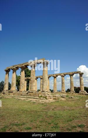 italy, basilicata, metaponto, tavole palatine, greek temple of hera - Stock Photo