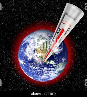 Global warming concept, artwork. - Stock Photo