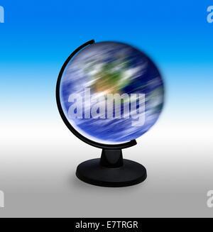 Spinning globe, composite image. - Stock Photo