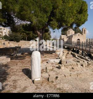 St. Paul's Pillar, Paphos, Cyprus. - Stock Photo