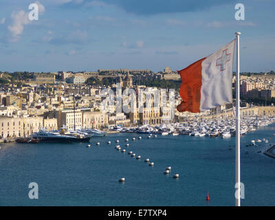 Valletta Harbour, Malta - Stock Photo