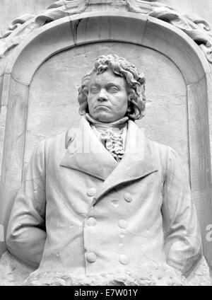 Architectural detail of the monument to Haydn, Beethoven and Mozart (Berlin, Germany) - Stock Photo