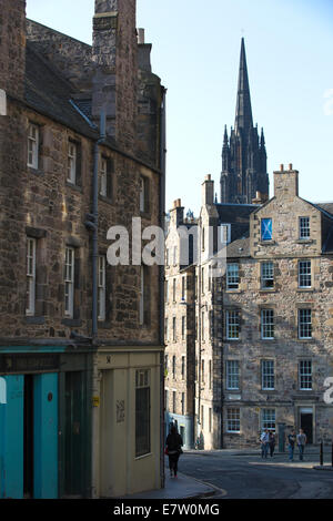 Candlemaker Row, the Old Town, Edinburgh, Scotland, United Kingdom - Stock Photo