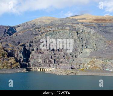Slate quarry near Llanberis, North Wales. - Stock Photo
