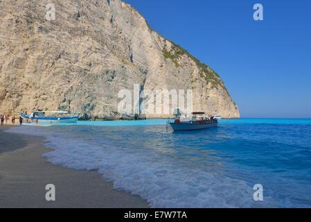 Amazing beach Spiwreck in Zakynthos, Greece - Stock Photo