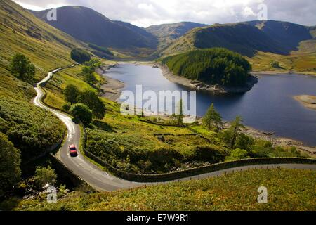 Lake District National Park, Cumbria, UK. 24th Sep, 2014. Mardale village emerges from Hawswater, Lake District - Stock Photo