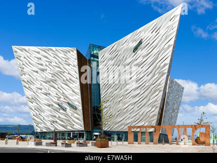 Titanic Belfast museum, Titanic Quarter, Belfast, Northern Ireland, UK - Stock Photo