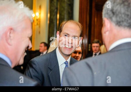 Belfast, Northern Ireland. 23/09/2014 - Prince Edward attends a Duke of Edinburgh award ceremony at the Belfast - Stock Photo