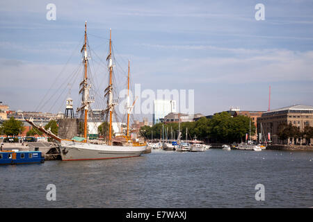 The Kaskelot tall ship docked in Bristol - Stock Photo