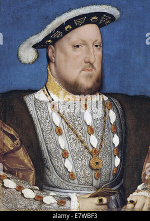 HENRY VIII by Hans Holbein the Younger about 1536 - Stock Photo