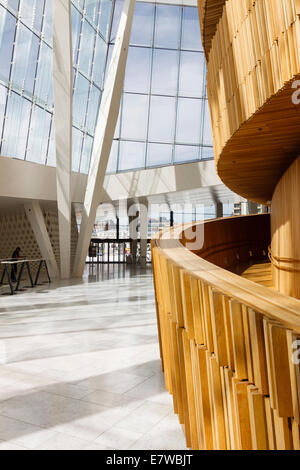 Wave Wall at the foyer of the Opera Hall, Oslo, Norway - Stock Photo