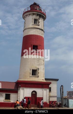 jamestown lighthouse - Stock Photo