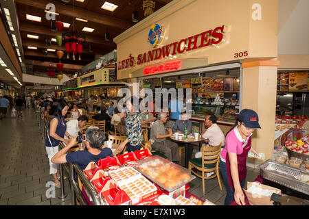Lees Sandwiches, Vietnamese food, food court, Asian Garden Mall, city of Westminster, Orange County, California - Stock Photo