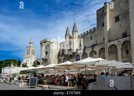 Palais des Papes or Palace of the Popes. UNESCO World Heritage , Avignon, Vaucluse, Languedoc-Roussillon, France, - Stock Photo