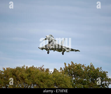Eurofighter Typhoon FRG4  on approach to RAF Lossiemouth, Morayshire.  SCO 9163 - Stock Photo
