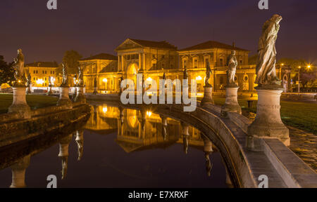 Padua - Prato della Valle at night. - Stock Photo