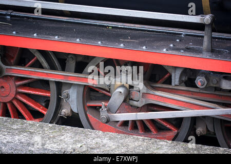 Wheels of a Vintage Steam Train - Stock Photo