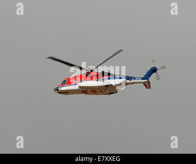 CHC Scotia Sikorsky S-92A G-WSNE working out of Aberdeen Dyce airport for Oil Field Worker Transfer - Stock Photo