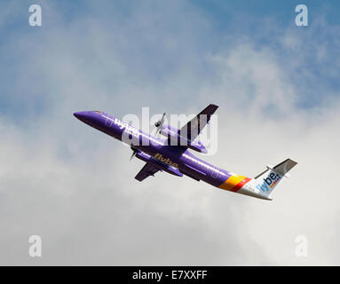 Flybe - British European Bombardier DHC-8-402 Q400 G-JECE - Stock Photo