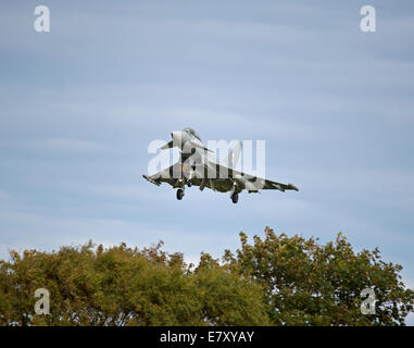 Eurofighter Typhoon FRG4 on approach to RAF Lossiemouth, Morayshire.  SCO 9136 - Stock Photo