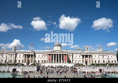 NATIONAL GALLERY IN LONDON SUMMER - Stock Photo