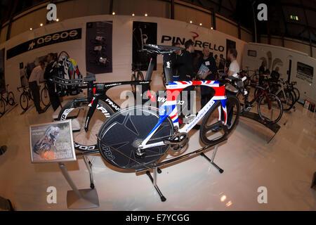 Sir Bradley Wiggins Pinarello Time trial bike. - Stock Photo