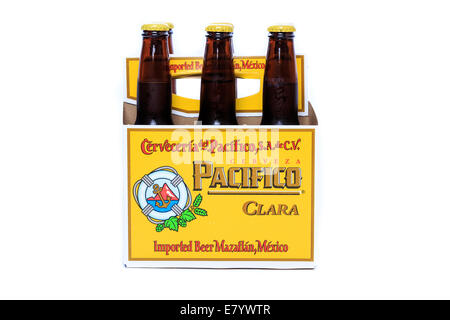 Cold  and frosty Pacifico Clara Beer - Stock Photo
