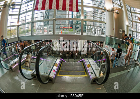 New York, NY - 23 August 2014 - South Ferry Terminal at the Battery. - Stock Photo
