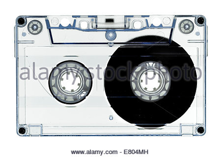Old fashion, cassette tape isolated on white - Stock Photo