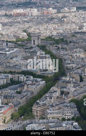 Taken from the Eifel tower - Stock Photo