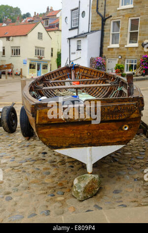 A boat called 'Mary Anne' of Whitby. 16TH September, at the Bay Hotel, Robin Hood's Bay, England - Stock Photo