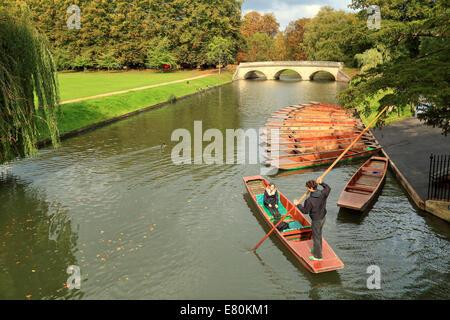 Punting, Cambridge, UK. - Stock Photo
