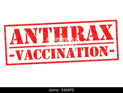 ANTHRAX VACCINATION red Rubber Stamp over a white background. - Stock Photo