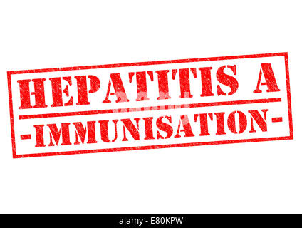 HEPATITIS A IMMUNISATION red Rubber Stamp over a white background. - Stock Photo