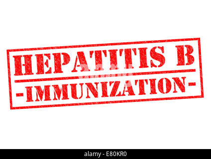 HEPATITIS B IMMUNIZATION red Rubber Stamp over a white background. - Stock Photo