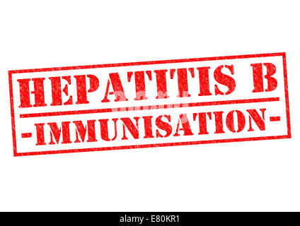 HEPATITIS B IMMUNISATION red Rubber Stamp over a white background. - Stock Photo