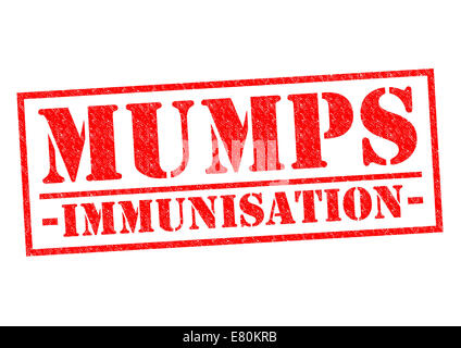 MUMPS IMMUNISATION red Rubber Stamp over a white background. - Stock Photo