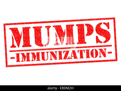 MUMPS IMMUNIZATION red Rubber Stamp over a white background. - Stock Photo