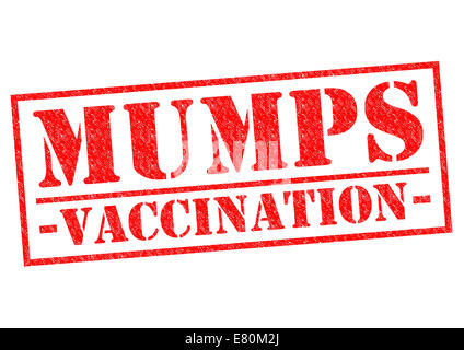 MUMPS VACCINATION red Rubber Stamp over a white background. - Stock Photo